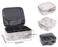 Portable Travel Toiletry Bag Cosmetic Makeup Organizer Marble Case Storage Box