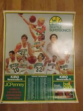 1980-81 SEATTLE SUPERSONICS SCHEDULE POSTER-RARE