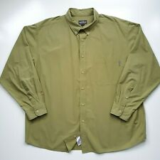 Woolrich Mens Sz XXL Long Sleeve Button Down Dress Shirt Green All Cotton