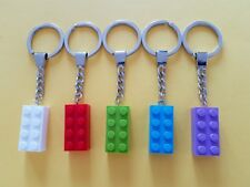 LEGO Pack of 5 Brick Keychains, Keyring Bagcharm Party Bag (2x4 Stud) NEW a