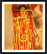 Hygeia from Medicine by Gustav Klimt 75cm x 63cm Framed Black
