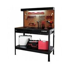 Garage Workbench Heavy Duty With Light Industrial Table Top Steel Work Bench New