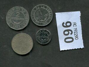 Set of  4  coins of   Bolivia