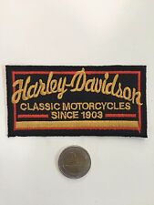 Patch toppa aufnaher Écusson embroidered Harley Davidson thermocollant  5,5x11cm