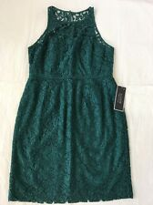 New J.Crew 16 Pamela Leaver Lace Royal Dress Bridesmaid Wedding Green Jade #1743