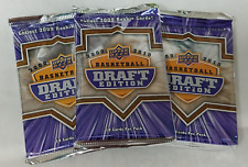 2009-10 Upper Deck Draft Edition Basketball NBA - Set of 3 - Sealed Hobby Packs