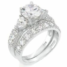 cz moissanite simulated other wedding ring sets - Engagement And Wedding Ring Sets