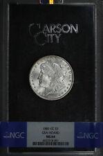 1881-CC GSA Morgan Dollar NGC MS-64 with Original Box and Card