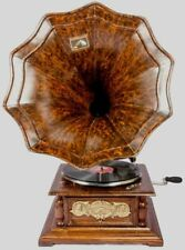 Vintage Hmv Antique Old Machine Wooden Collectible Gramophone Phonograph BG 08