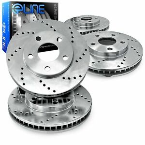 For 1989-1994 Suzuki Swift R1 Concepts Front Rear Drilled Brake Rotors