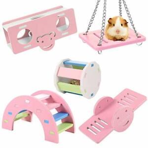 5 Pcs Lovely Hamster Play Toys, Rainbow Bridge & Seesaw & Swing, Climb