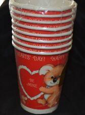Vtg Valentine Hearts Koala Bear Mouse Paper Cups  Pack of 8 NIP 9 oz Hot/Cold