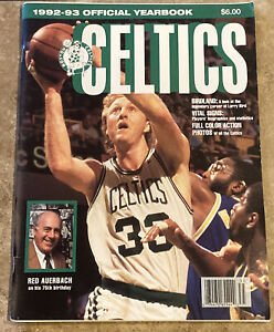 1992-93 BOSTON CELTICS Official Yearbook RED AUERBACH LARRY BIRD