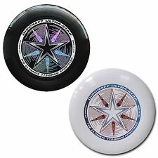 NEW Discraft ULTRA-STAR 175g Ultimate Frisbee Disc (2 Pack) BLACK/WHITE