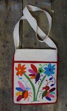 Med Otomi Tote Bag Hand Embroidered Handbag Shoulder Bag Mexican Folk Art Boho