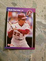 Bob Dernier Philadelphia Phillies 1989 Donruss Card Ungraded **