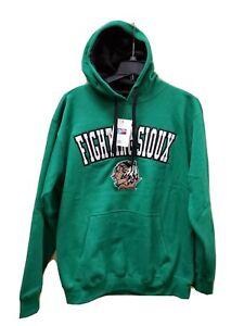 UND mens 3XL Fighting Sioux Hoodie Hooded Sweatshirt North Dakota NEW Green