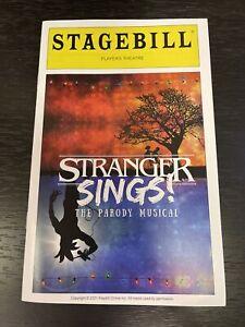 "STRANGER THINGS Parody Musical PLAYBILL! Off-Broadway ""STRANGER SINGS"" 2021!"