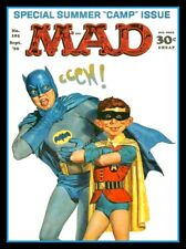 "4.75"" Mad Magazine Batman & Robin Ecchhh! vinyl sticker. Comics decal for laptop"