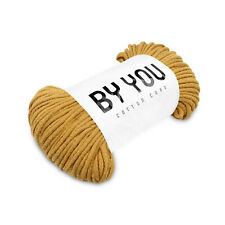 5mm Cotton Rope MUSTARD 100m  BY YOU, chunky knit cord, macrame cord