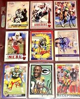 f. Green Bay Packers NFL football auto autograph card LOT Sterling Sharpe +more!