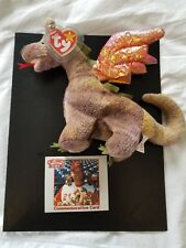 10114e5315c Rare Cincinnati Reds 1999 SGA Scorch The Dragon Ty Beanie Babies Sean Casey  Card