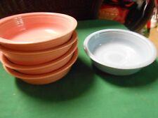 "Beautiful FIESTA ""Pink"" 4 BOWLS and 1 FREE Blue Bowl"