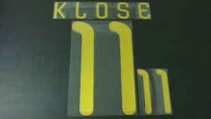 MIROSLAV KLOSE #11 Germany Away World Cup 2010 Gold Color Name Set