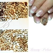 Tiger Nagel Sticker Nailart Tattoo Leopard Fullcover Nagel Aufkleber XF 8110