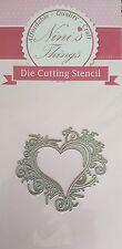 Nini's Things Flourish Heart Frame cutting stencil set die Elegant scrapbook