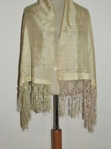 Edwardian Embroidered SIlk Shawl / Margaret Draper Princess  Boncampagni