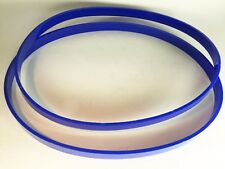 """10"""" X 7/8"""" Urethane Band Saw TIRES Set of 2 Belts Blue 0.125"""" Ultra Thick USA"""