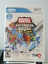 Wii Marvel Super Hero Squad Comic Combat Video Game uDraw Tablet Artistic Play