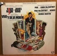 JAMES BOND - VIVE Y DEJA MORIR- LP/VINILO -ESPAÑA- 1973- (MB/VG - MB/VG)