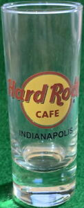 "Hard Rock Cafe INDIANAPOLIS 4"" SHOT GLASS Red Circle Classic HRC Logo Cordial"
