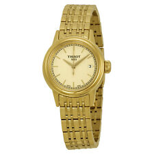 Tissot Carson Champagne Dial Yellow Gold PVD Ladies Watch T0852103302100