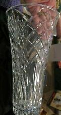 "Marquis by Waterford Maximillian 12"" Fan & Wedge Cut Crystalline Vase"