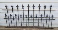 Antique Fence Complete1860s-90s ET Barnum Wrought Cast Iron Cemetery Church