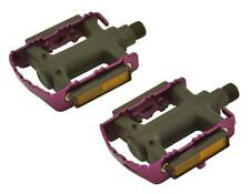 "New! Bicycle Alloy Fixie Pedals Alloy/Nylon 9/16"" Purple."