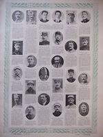 TABLEAU D'HONNEUR 4 PLANCHES N°397 au N°400 DES VICTIMES DE GUERRE 1914/1918