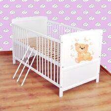 Babybett  Kinderbett - Juniorbett umbaubar 140x70 Weiß nr 26