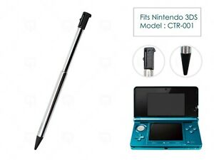 3DS Black & Silver Stylus Metal Retractable Touch Pen for Nintendo 3DS Console