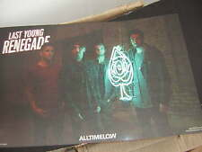 ALL TIME LOW PROMO POSTER 2017 LAST YOUNG RENEGADE METAL BAND
