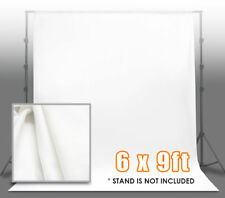 6 ft x 9 ft Polyester White Muslin Backdrop Photo Studio Photography Washable