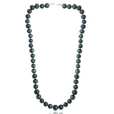 """Peacock Freshwater Cultured 8-9mm Pearls Necklace, 18"""""""