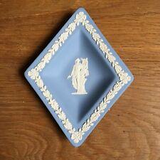 Coupelle Losange Biscuit Bleu Jasper Wedgwood Blue Ware Dish Musique Lyre
