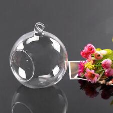 Glas Teelichthalter zum Aufhängen Hängen hängend Kerzenhalter Tischdekor P2