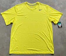Nike Dri-Fit Touch Solid Men's Training Shirt Size XL Yellow 639911-700 New! NWT