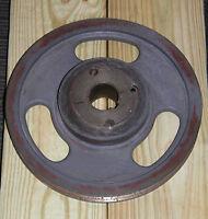 "Antique, cast iron, Industrial, machine age, steampunk,  wheel/gear 10 3/4"" D"