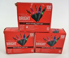 Make the Season Bright Indoor/Outdoor Multi Color Light Set 3 Packs